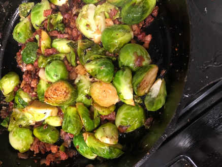 Charred Brussels Sprouts With Crispy Pancetta | Sandra Soups And Sweets